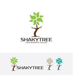 shaky tree logo vector image