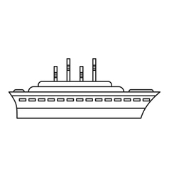 Ship icon outline style vector image