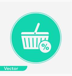 Shopping basket icon sign symbol vector