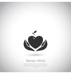 Sign with red fruit Logo for Cosmetics vector