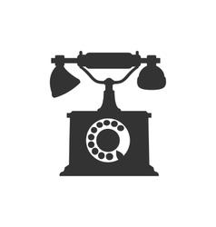 silhouette of antique retro telephone vector image