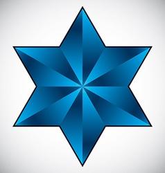 Six point star symbol vector