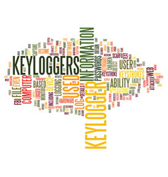 The advancement of the keylogger text background vector