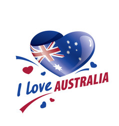 the national flag australia and the vector image