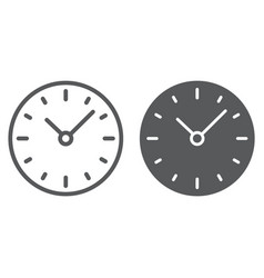 time line and glyph icon clock and minute vector image