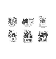 Time to travel labels or logos original design vector
