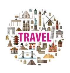 Travel logo design template world or vector