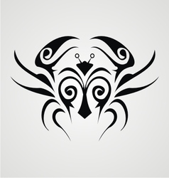 Tribal Crab vector image