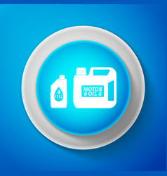white plastic canister for motor machine oil icon vector image