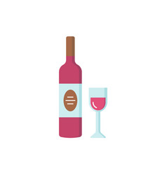wine icon in flat style vector image