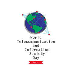 World telecommunication and information society d vector
