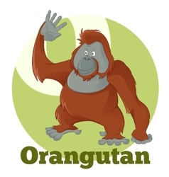 Abc cartoon orangutan2 vector