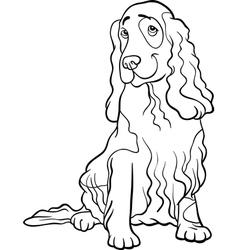 cocker spaniel dog cartoon for coloring book vector image vector image