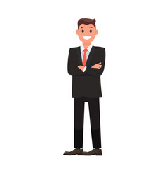colorful flat design character businessman vector image vector image