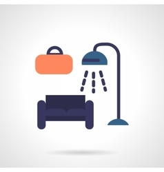 Furniture store flat color icon vector image vector image