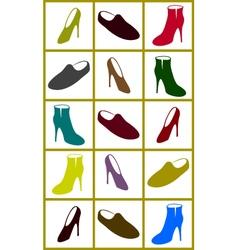set shoes vector image