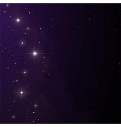 Stars and nebula vector image vector image