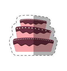 cake dessert baked shadow vector image
