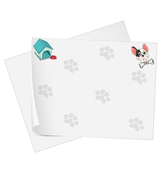 Empty stationery papers vector image vector image