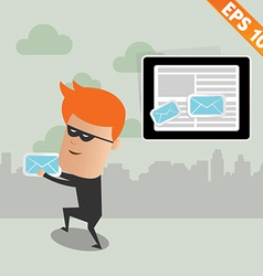 Hacker steal email - - EPS10 vector image