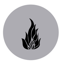 blue emblem sticker fire icon vector image vector image