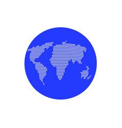 blue globe icon vector image