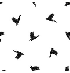 duck pattern seamless black vector image vector image