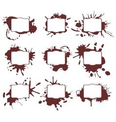 Ink Splats Frames vector image