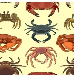 Pattern of crab icons vector image vector image