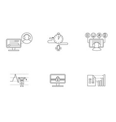 set of pictogram in box vector image