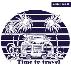 summer bus vector image