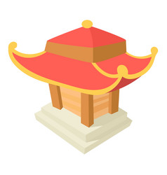 asian pagoda icon cartoon style vector image