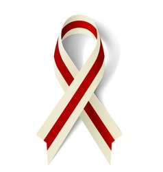 Burgundy and ivory ribbon vector image