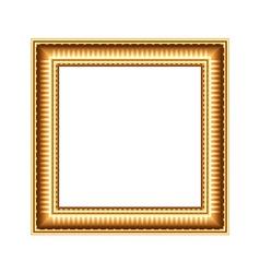Golden art frame isolated on white vector image