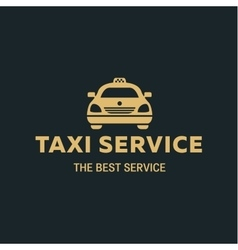 Logo Best Taxi car flat style icon vector image vector image