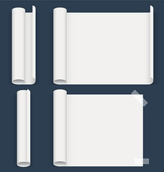 Set of sheets a different form Whatman paper vector image