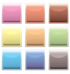 subtle square plastic web icon vector image vector image