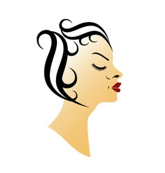 Vintage hairstyle vector image vector image