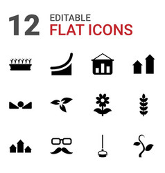 12 growth icons vector