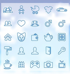 25 family icons vector image