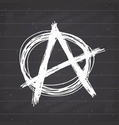 Anarchy sign hand drawn sketch textured grunge vector