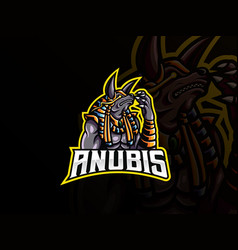 anubis mascot sport logo design vector image