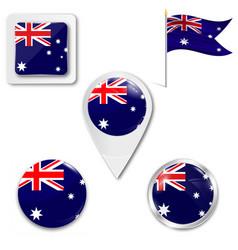 Australia flag flag australian banner vector
