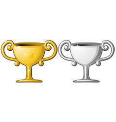 award cup silver gold vector image