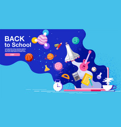 back to school inspiration poster flat design vector image