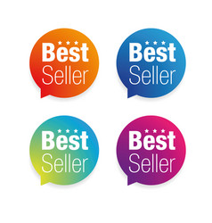 best seller label tag vector image