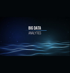 big data visualization background 3d big data vector image