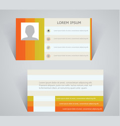 business card simple layout with colorful stripes vector image