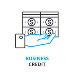 business credit concept outline icon linear vector image