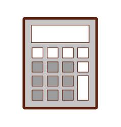 Calculator math isolated icon vector